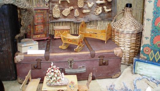 Dřevěné kolébky na výstavě Dárky od Ježíška