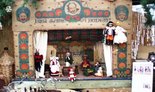 Loutkové divadlo na výstavě Dárky od Ježíška