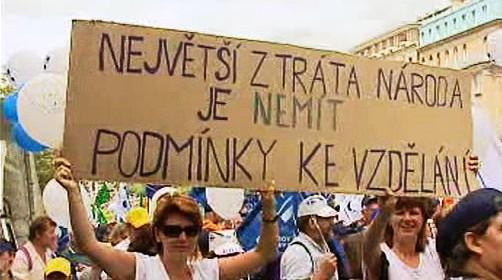Demonstrace proti reformě veřejných financíz roku 2003