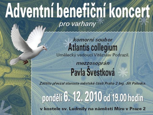 Pozvánka na Adeventní benefinčí koncert