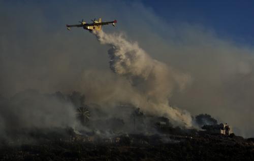 Hašení požáru v severní Izraeli