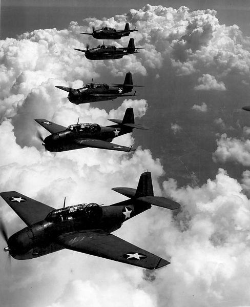 Letka letounů Grumman TBF Avenger
