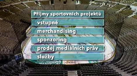 Příjmy sportovních projektů