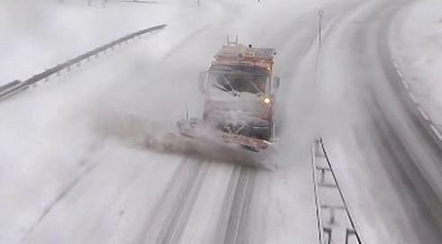 Komplikace způsobené sněhem v Belgii