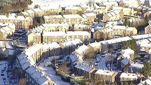 Sněhová nadílka v Belgii