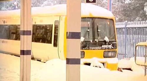 Britské vlaky zastavilo počasí