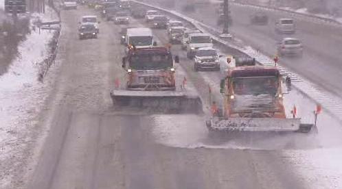Zimní údržba dálnice