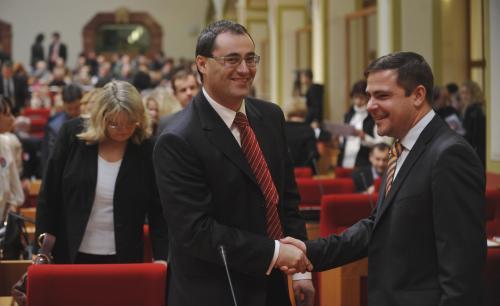 Boris Šťastný a Karel Březina