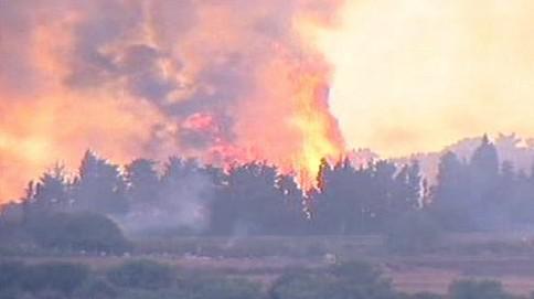 Lesní požár v Izraeli