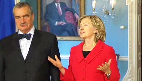 Karel Schwarzenberg a Hillary Clintonová