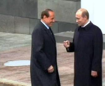 Silvio Berlusconi a Vladimir Putin