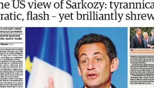 Tisk k americkým depeším o Nicolasi Sarkozym