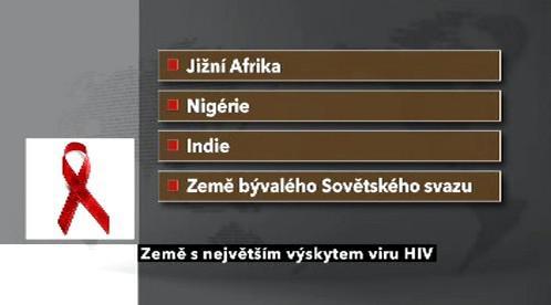 Země s největším výskytem HIV