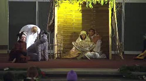 Scénka z adventního večera v Bohnicích