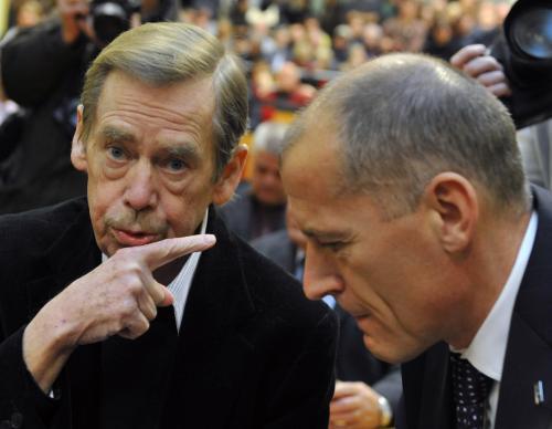 Václav Havel a Zdeněk Tůma