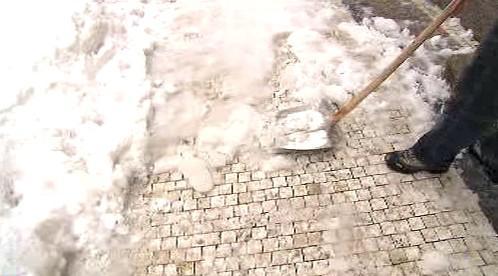 Úklid chodníku