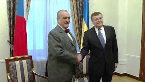 Karel Schwarzenberg a Konstantyn Hryščenko