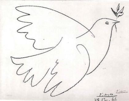 Pablo Picasso / Holubice s olivovou ratolestí