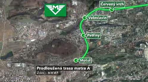 Prodloužená trasa metra A