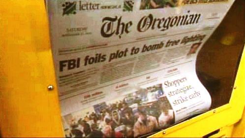 The Oregonian o neúspěšném pokusu o atentát