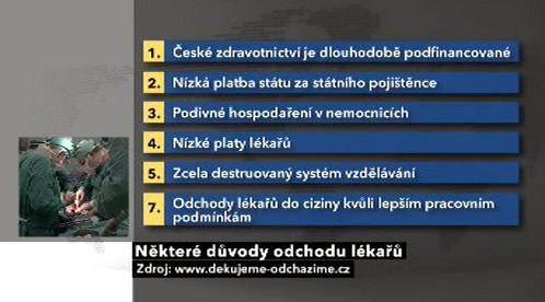 Důvody odchodu českých lékařů
