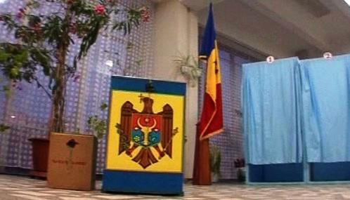 Volební místnost v Moldavsku