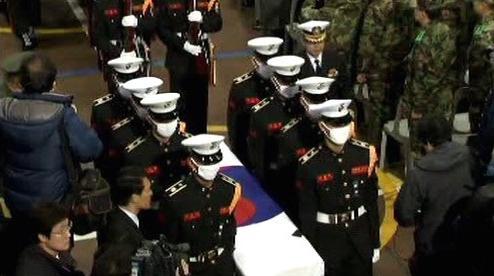 Pohřeb jihokorejských vojáků