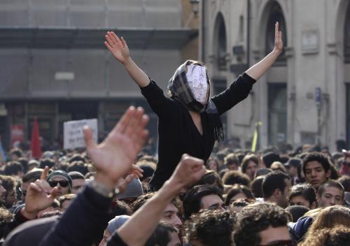 V Itálii se protestovalo proti škrtům ve školství