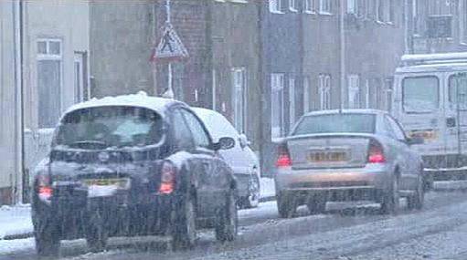 Anglie pod sněhem