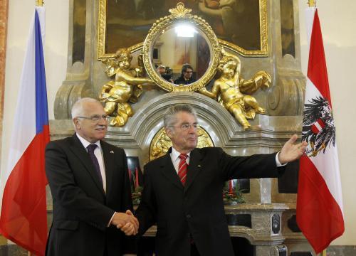 Václav Klaus a Heinz Fischer na setkání v Gerasu
