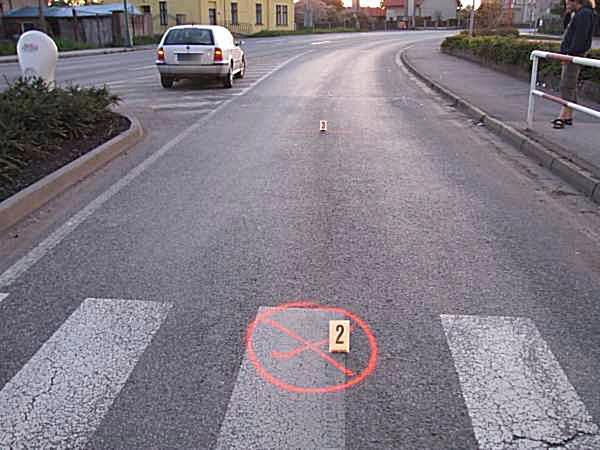 Dopravní nehoda na přechodu pro chodce