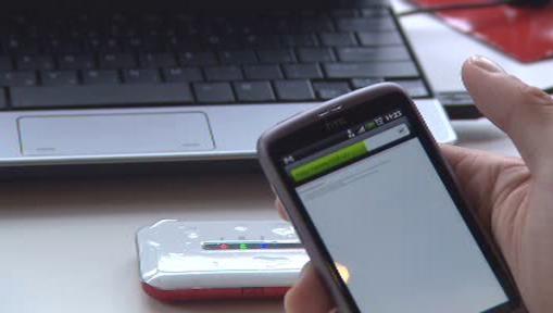 Připojení přes mobilní telefon