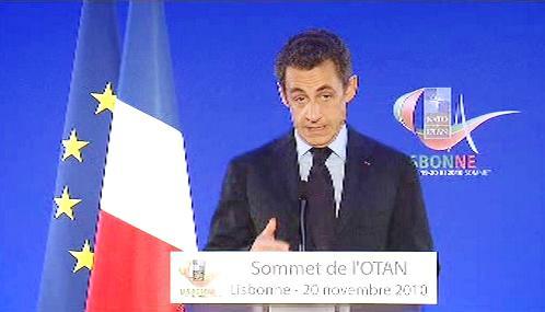 Nicolas Sarkozy na summitu NATO