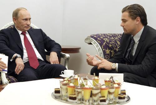 Vladimir Putin a Leonardo DiCaprio na \