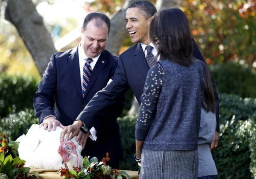 Barack Obama ušetřil krocana od cesty na talíř