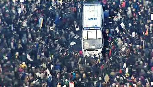 Studentské protesty v Británii