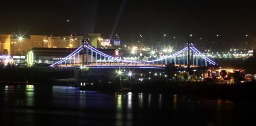 Most vedoucí na Diamantový ostrov v kambodžské metropoli