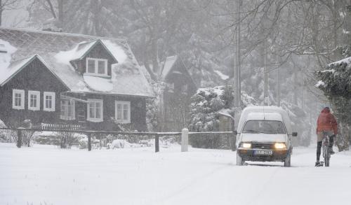 První sníh na Jablonecku