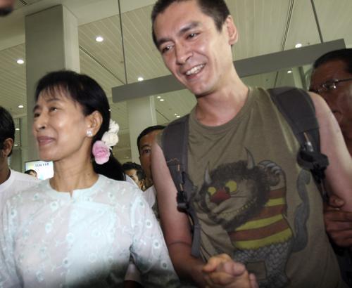 Su Ťij a její syn Kim Aris