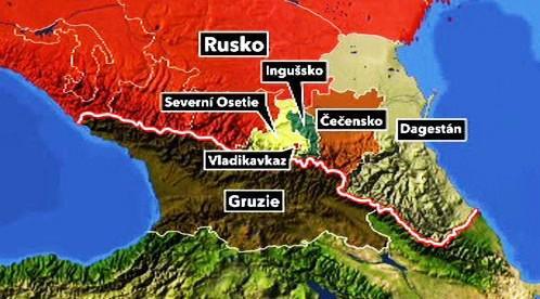 Mapa Kavkazu