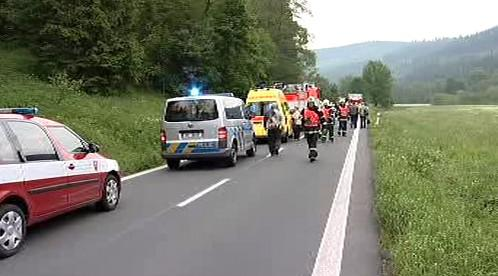 Záchranáři u dopravní nehody
