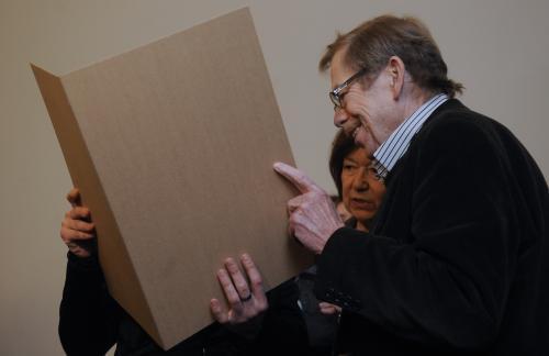 Charlotta Kotíková a Václav Havel