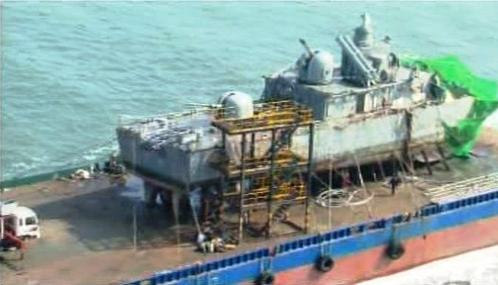 Korveta Čchonan zasažená torpédem