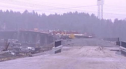 Stavba silničního mostu