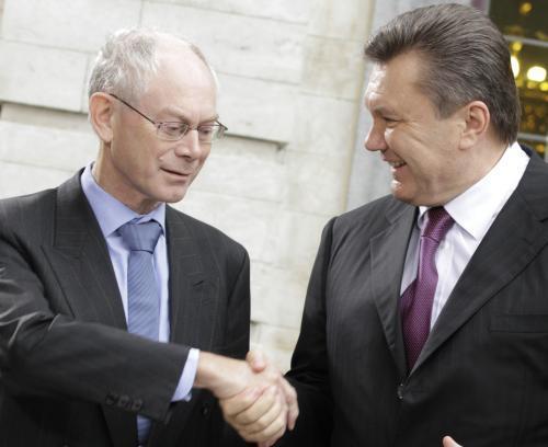 Herman Van Rompuy a Viktor Janukovyč