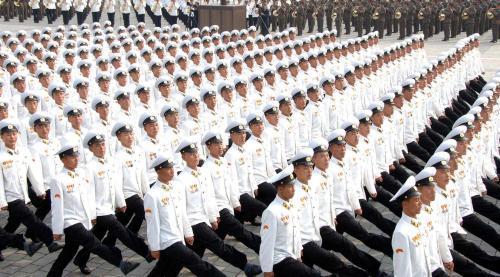 Vojenská přehlídka v Pchjongjangu
