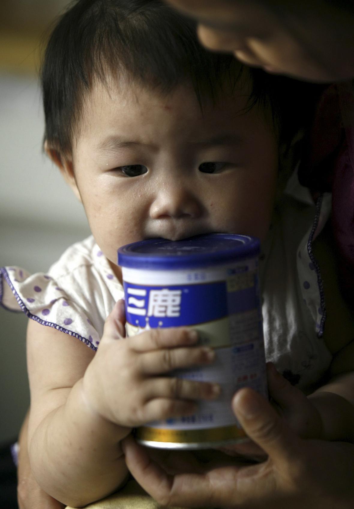 Čínské kontaminované mléko