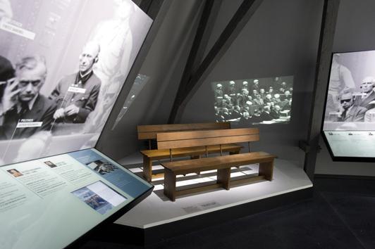 Výstava o norimberských procesech