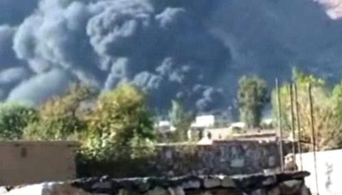 Následky útoku afghánského Talibanu