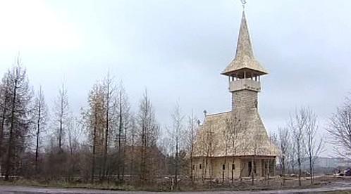 Dřevěný pravoslavný kostel v Mostě